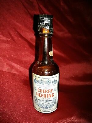 Peter E. Heering Cherry Brandy Antique Mini Bottle Late 1800 Early 1900s Vintage