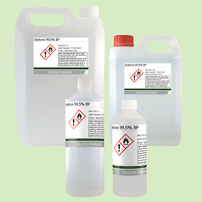 Acetone High Quality Nail Polish Remover 100ml,250ml,500ml,1L,2.5L Inc. Delivery