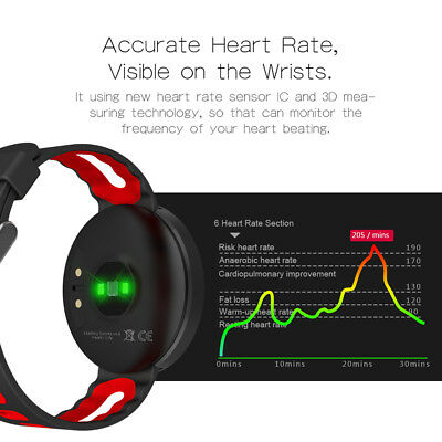 Smart Watch Blood Pressure Heart Rate Fitness Tracker For iPhone Samsung