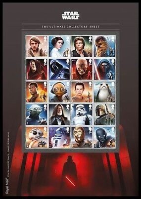 Gb 2017 Star Wars Ultimate Collector Sheet Space Films Set Mnh