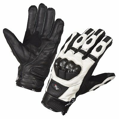 Summer White Motorcycle Gloves Moto Racing Gloves Knight Leather Ride Motorbike