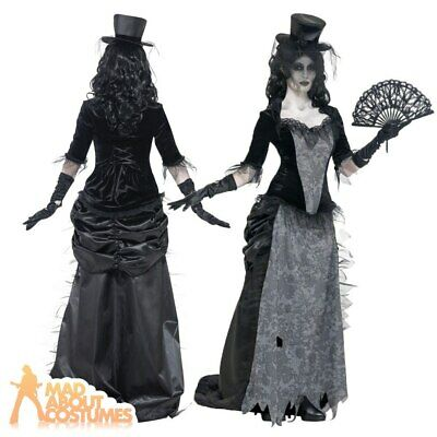 Black Widow Costume Ghost Town Adult Zombie Ladies Halloween Bride Outfit