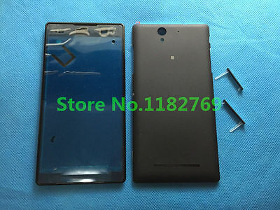Front Panel Battery Door Housing SIM plug Cover For Sony Xperia C3 S55T S55U