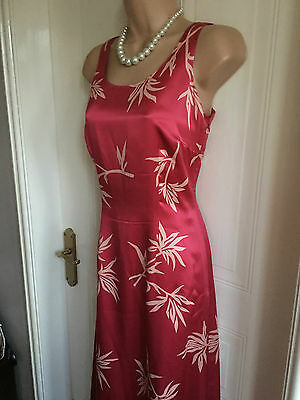 Size 8 Ankle Length 100% Silk Pink BLUE LEAF COLLECTION Dress