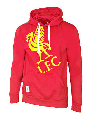 MENS Official LIVERPOOL FC OTH Graphic Hooded Top M XL Hoodie Red Football