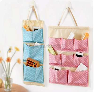 Wall Hanging Storage Bag Toys Container Oxford Pocket Pouch Home Organizer Decor