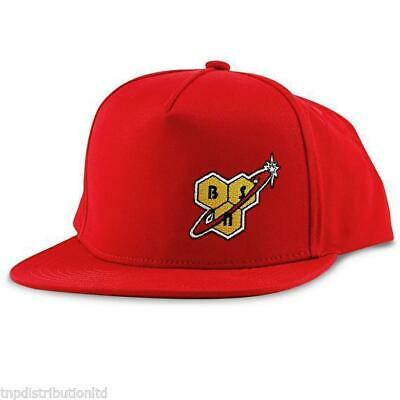 BSN Red Snapback with Logo Gym Wear Accessories Hat Cap