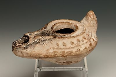 Roman Clay Molded Oil Lamp Miniature - 100 A.d.
