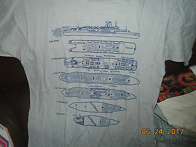 VTG 1984 S/S Dolphin Cruise Ship Large Shirt Unisex 2 Sided BOAT DOESN'T EXIST