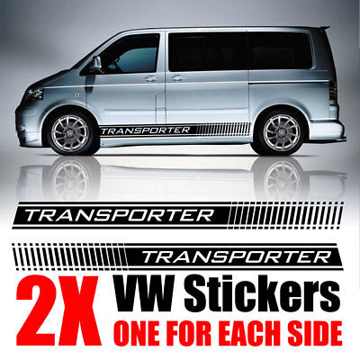 VW Transporter Side Decals Stickers Camper Van Graphics  T4 T5 T6 Caddy