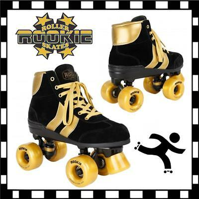 Rookie Bold Gold V2 Quad Roller Skates Kids Womens Retro Roller Derby