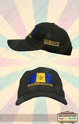 Barbados Baseball Cap/hat With Barbados Flag Badge Rasta Roots Reggae