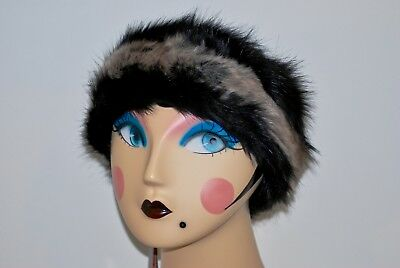 Parkhurst Faux Fur Animal Print Bucket Hat Warm~Packable~Made In Canada NWT