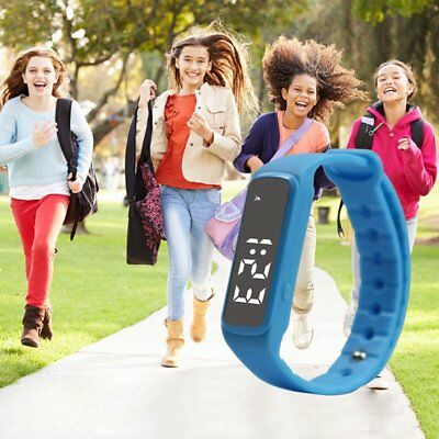 Kids Activity Tracker Bracelet Pedometer Fitness Watch Band Fitbit Styled Green