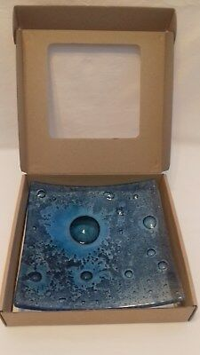 Jo Downs fused glass bubble dish