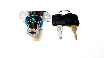 Home Office Door Showcase Cylinder Plunger Lock with 2 Pcs Keys T1