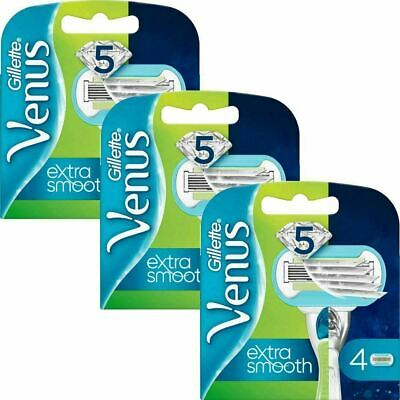 12 x Gillette Venus Embrace Womens Sensitive 5-Bladed Smooth Razor Blade Refills