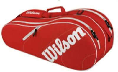 Wilson Advantage Team 6 Pack Red Tennis Bag Tennistasche