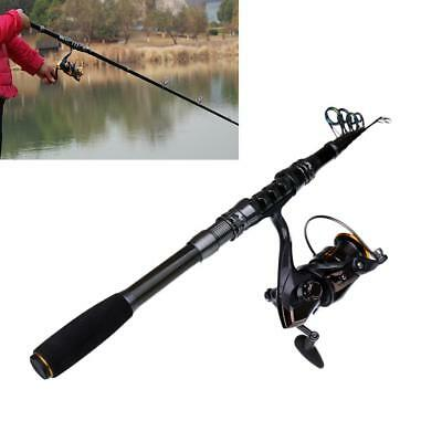 Telescopic Spinning Reel Fishing Rods Saltwater Carbon Fiber Pole Superhard