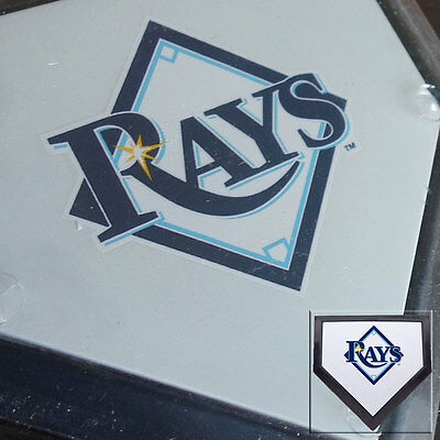 2 x Tampa Bay Rays MLB Authentic Pocket Mini Home Plate Coasters