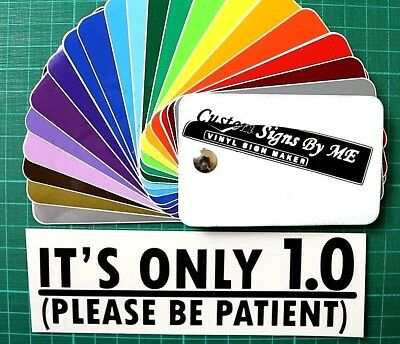 Funny BLACK IT'S ONLY 1.0 CAR SIDE WINDOW TAILGATE BUMPER BADGE Sticker Decal
