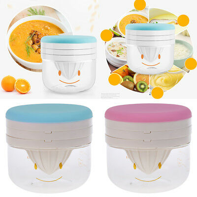 Baby Food Making Set Filter Masher Juicer Squeeze Grinder Mash Bowl
