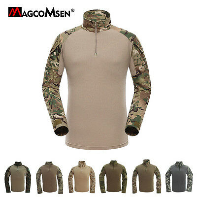 Mens Tactical Long Sleeve Army Shirt Moisture Wicking Combat Military T Shirt