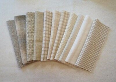 HAND DYED RUG HOOKING WOOL Neutral - Natural - Cream  by Quilting Acres