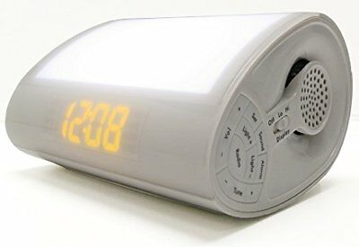 Sharper Image Wake-Up Light Alarm Clock Radio with Soothing Sounds