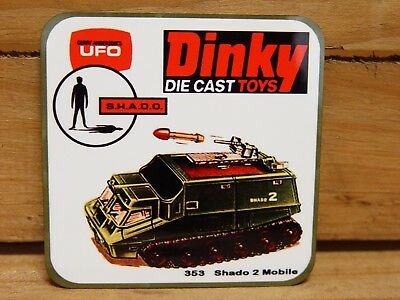 Drink Coaster Set Of 4 - Dinky Ufo Shado 2 Mobile