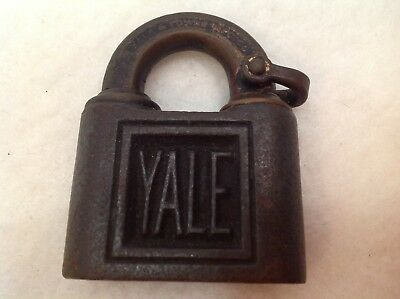 Yale & Towne Antique Lock Vintage Brass and Cast Padlock 54 NO KEY