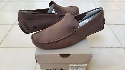 5d4536ffbc2 Lacoste Piloter 316 1 Men Casual Nubuck Leather Loafer Shoes US11.5 UK10.