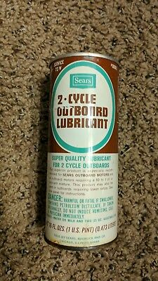 Vintage Sears 2 cycle Outboard Lubricant Oil Can Very Rare Unopened VGC