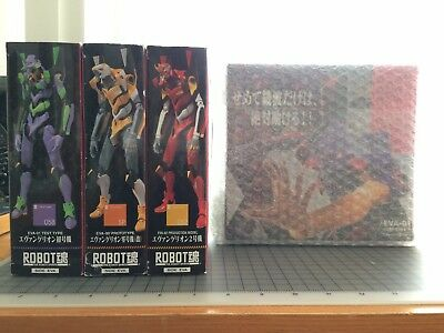 Robot Spirits/Damashii Limited Evangelion 00 01 02  Awakening Ver. lot of 4 set