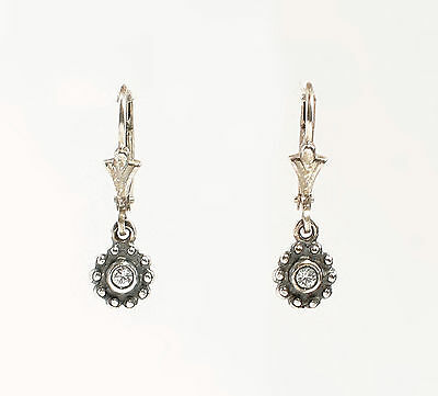 925 Silver Earrings with Swarovski Stones in the Shape of a Blossom a8-01452