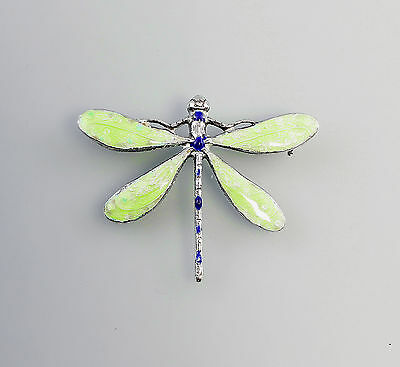 925 Silver enamelled Brooch Dragonfly a8-01293