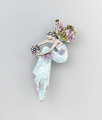 925 Silver enamelled Brooch Fairy a8-01287