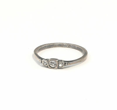 925 silver Ring with Swarovski Stones Big 54 delicate a8-01370