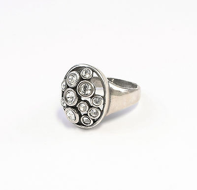 925 silver Ring with Swarovski Stones Big 57 a8-01356