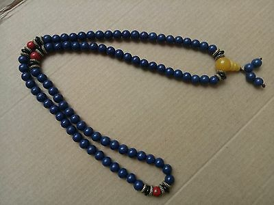 china tibet tibetan Lapis lazuli buddhist buddha worry prayer bead mala brace#