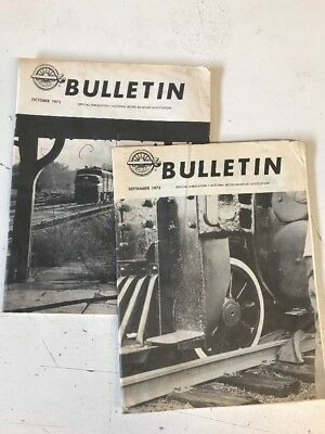 2 1973 Issues of NMRA Bulletin, Railroad Magazine, Sept & Oct