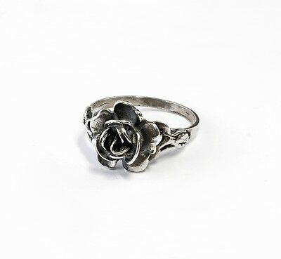Silver 925 Ring Rose Blossom Size 54 a1-01049
