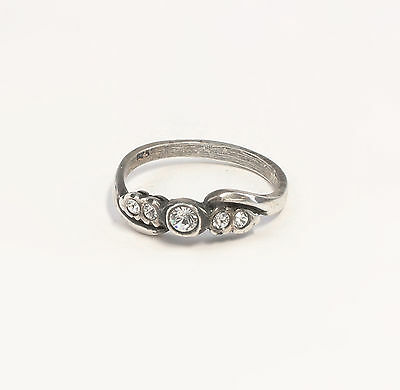 Silver 925 Ring with Swarovski Stones Big 52 a1-01387