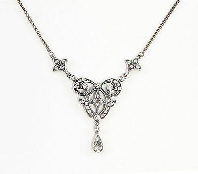 Silver 925 Necklace with Swarovski Stones delicate a1-01661