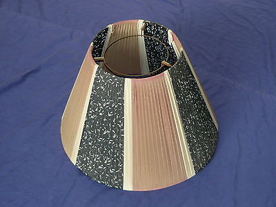 Original  50s 60s Large Size Barsony Style Lamp Shade 34 x 51cm Vintage Light