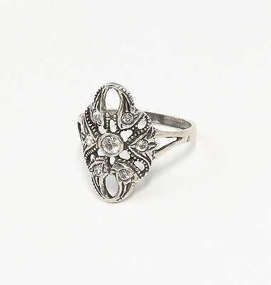 Silver 925 Ring with Swarovski Stones Big 59 a2-01392