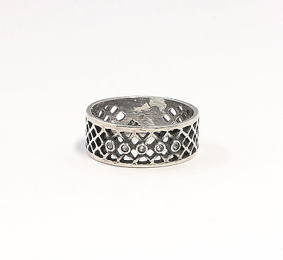 Silver 925 Ring with Swarovski Stones Big 54 a2-01359