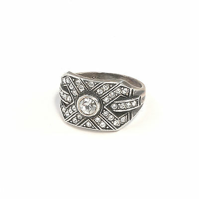 Silver 925 Ring with Swarovski Stones Big 55 geometric a2-01402