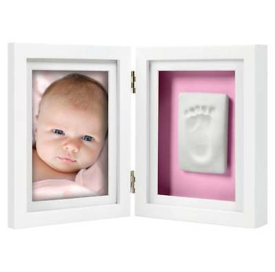Pearhead Babyprints Newborn Handprint or Footprint Desktop Frame Kit, White