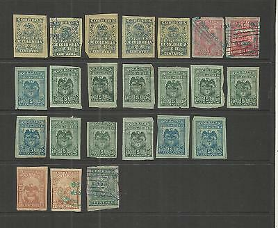 Colombia ~ 1902+ Arms Imperforate Definitives